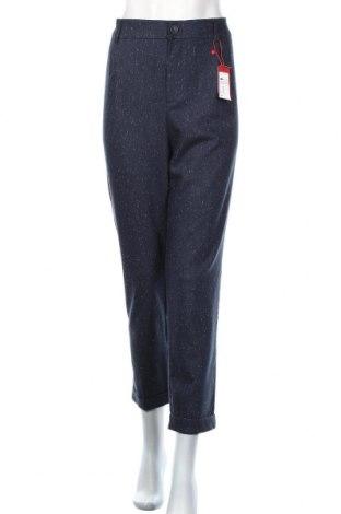 Дамски панталон S.Oliver, Размер L, Цвят Син, 55% полиестер, 18% вискоза, 13% вълна, 7% полиакрил, Цена 89,00лв.