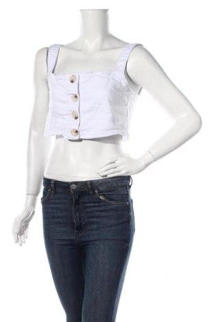 Γυναικείο αμάνικο μπλουζάκι Nasty Gal, Μέγεθος M, Χρώμα Λευκό, 65% βαμβάκι, 33% πολυεστέρας, 2% ελαστάνη, Τιμή 5,32€