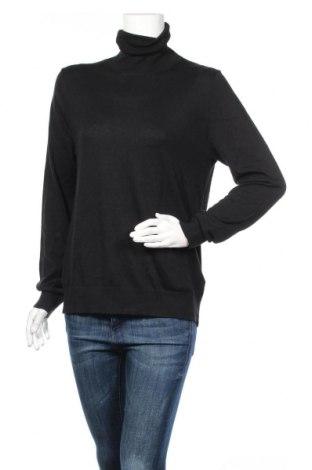 Γυναικείο πουλόβερ Massimo Dutti, Μέγεθος XL, Χρώμα Μαύρο, 52% μετάξι, 43% βαμβάκι, 5% κασμίρι, Τιμή 45,88€