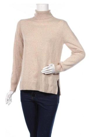 Γυναικείο πουλόβερ Massimo Dutti, Μέγεθος S, Χρώμα  Μπέζ, 96% μαλλί, 4% κασμίρι, Τιμή 45,88€