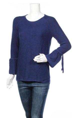Дамски пуловер S.Oliver, Размер M, Цвят Син, 50% памук, 50% вискоза, Цена 64,00лв.