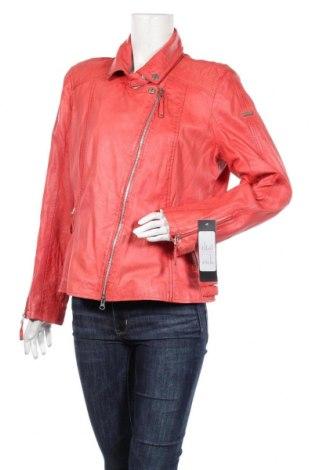Дамско кожено яке Cabrini, Размер XL, Цвят Розов, Естествена кожа, Цена 209,25лв.