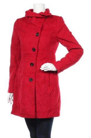 Damski płaszcz Comma,, Rozmiar S, Kolor Czerwony, 70% wełna, 20% poliamid, 10% kaszmir, Cena 645,00zł