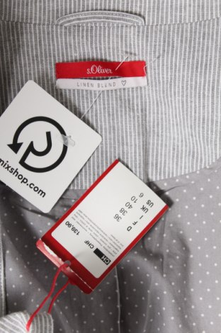Дамско сако S.Oliver, Размер S, Цвят Сив, 55% лен, 45% памук, Цена 78,97лв.