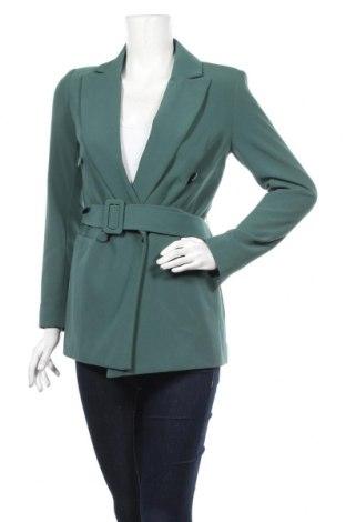 Дамско сако Topshop, Размер XS, Цвят Зелен, 3% полиестер, 20% вискоза, 7% еластан, Цена 69,12лв.