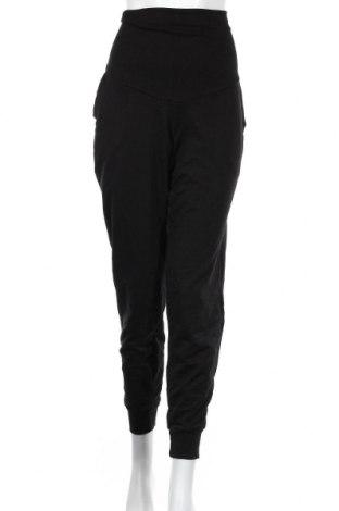 Дамско спортно долнище H&M Mama, Размер M, Цвят Черен, 65% памук, 19% полиестер, 5% еластан, Цена 11,55лв.