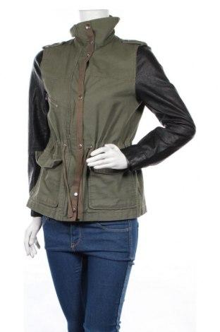 Дамско яке H&M, Размер M, Цвят Зелен, Памук, еко кожа, Цена 23,40лв.
