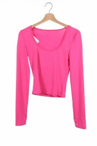 Детска блуза, Размер 11-12y/ 152-158 см, Цвят Розов, 95% полиестер, 5% еластан, Цена 3,68лв.