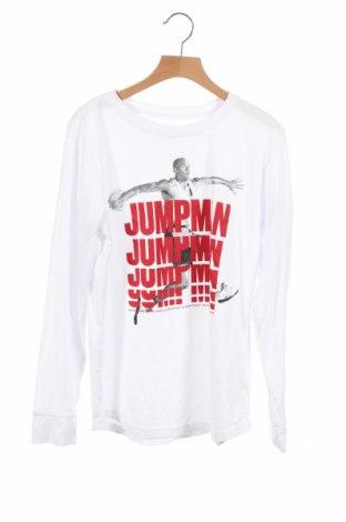 Детска блуза Air Jordan Nike, Размер 11-12y/ 152-158 см, Цвят Бял, Памук, Цена 43,40лв.