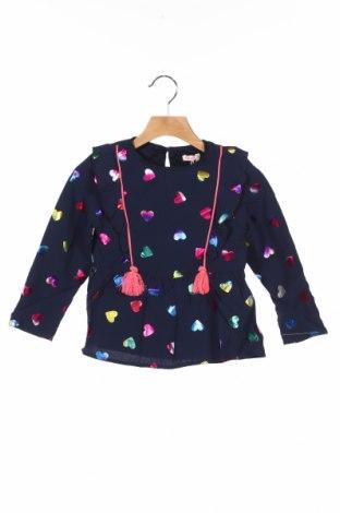 Детска блуза Billieblush, Размер 3-4y/ 104-110 см, Цвят Син, Вискоза, Цена 24,50лв.