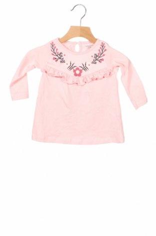 Детска блуза Crafted, Размер 6-9m/ 68-74 см, Цвят Розов, Памук, Цена 28,50лв.
