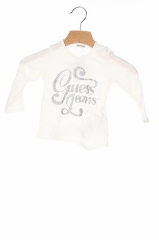 Детска блуза Guess, Размер 6-9m/ 68-74 см, Цвят Бял, Памук, Цена 29,50лв.