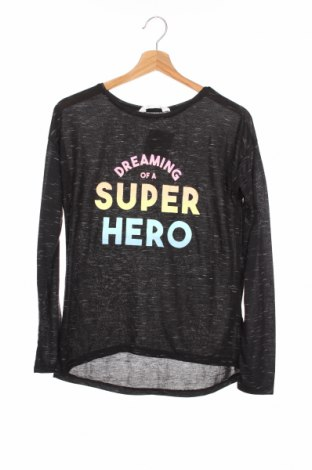 Детска блуза H&M, Размер 12-13y/ 158-164 см, Цвят Черен, Цена 11,97лв.