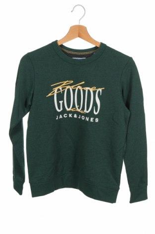 Детска блуза Jack & Jones, Размер 10-11y/ 146-152 см, Цвят Зелен, 65% полиестер, 30% памук, 5% други тъкани, Цена 27,30лв.