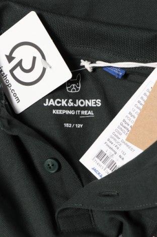 Детска блуза Jack & Jones, Размер 11-12y/ 152-158 см, Цвят Зелен, Памук, Цена 27,30лв.