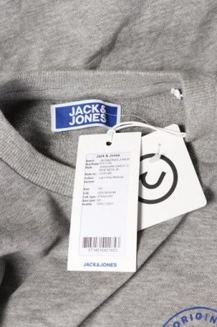 Детска блуза Jack & Jones, Размер 11-12y/ 152-158 см, Цвят Сив, Памук, Цена 26,52лв.