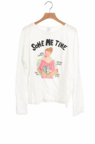 Детска блуза Lefties, Размер 10-11y/ 146-152 см, Цвят Бял, Памук, Цена 19,50лв.