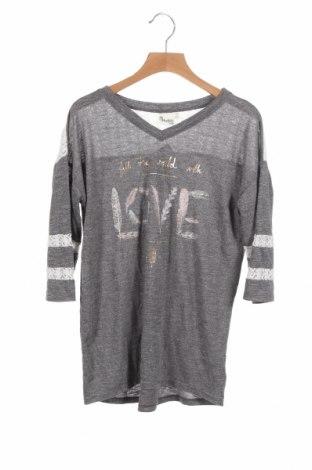 Детска блуза Mudd, Размер 13-14y/ 164-168 см, Цвят Сив, Полиестер, вискоза, памук, полиамид, Цена 4,20лв.