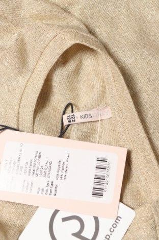 Детска блуза Only, Размер 6-7y/ 122-128 см, Цвят Бежов, 60% полиестер, 24% вискоза, 16% метални нишки, Цена 23,12лв.