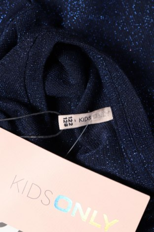 Детска блуза Only, Размер 6-7y/ 122-128 см, Цвят Син, 60% полиестер, 24% вискоза, 16% метални нишки, Цена 22,10лв.