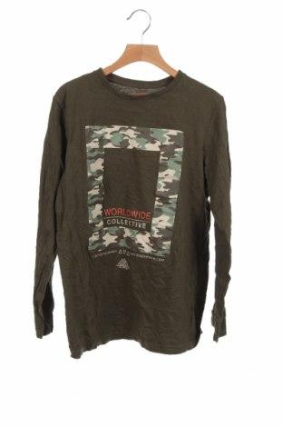 Детска блуза Primark, Размер 11-12y/ 152-158 см, Цвят Зелен, Памук, Цена 14,96лв.