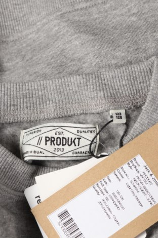 Детска блуза Produkt by Jack & Jones, Размер 6-7y/ 122-128 см, Цвят Сив, 80% памук, 20% полиестер, Цена 26,52лв.