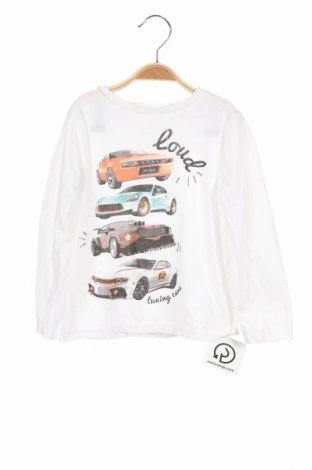 Детска блуза Tom Tailor, Размер 3-4y/ 104-110 см, Цвят Бял, Памук, Цена 21,76лв.