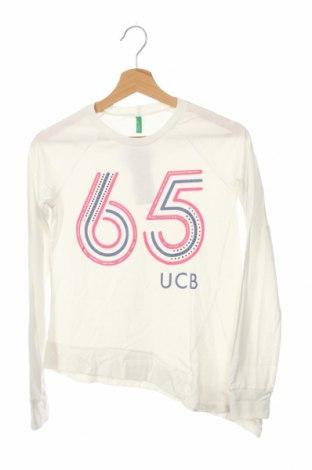 Детска блуза United Colors Of Benetton, Размер 12-13y/ 158-164 см, Цвят Бял, Памук, Цена 23,80лв.