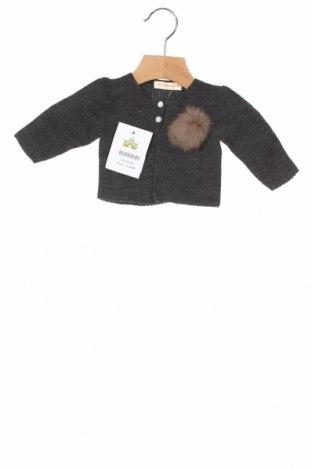 Παιδική ζακέτα Lola Palacios, Μέγεθος 3-6m/ 62-68 εκ., Χρώμα Γκρί, Άλλα υλικά, Τιμή 25,26€