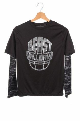 Детска спортна блуза Athletic Works, Размер 13-14y/ 164-168 см, Цвят Черен, Полиестер, Цена 14,18лв.