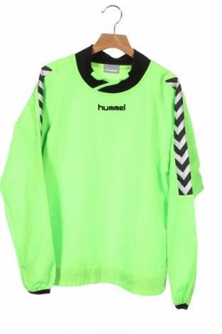 Детска спортна блуза Hummel, Размер 11-12y/ 152-158 см, Цвят Зелен, Полиестер, Цена 13,23лв.