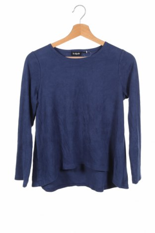 Детска спортна блуза Kidpik, Размер 13-14y/ 164-168 см, Цвят Син, 91% полиестер, 9% еластан, Цена 5,36лв.