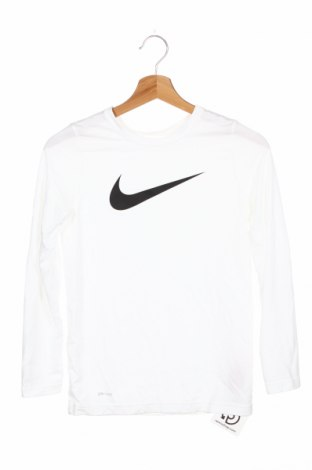Детска спортна блуза Nike, Размер 9-10y/ 140-146 см, Цвят Бял, 100% полиестер, Цена 39,00лв.