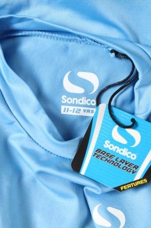 Детска спортна блуза Sondico, Размер 11-12y/ 152-158 см, Цвят Син, 92% полиамид, 8% еластан, Цена 27,00лв.