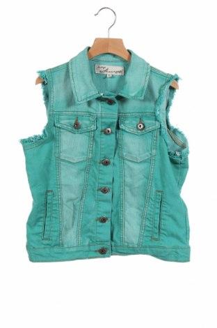 Dziecięca kamizelka Vintage Havana, Rozmiar 15-18y/ 170-176 cm, Kolor Zielony, 67% bawełna, 32% poliester, 1% elastyna, Cena 31,05zł