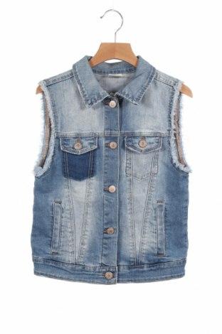 Dziecięca kamizelka Zara, Rozmiar 11-12y/ 152-158 cm, Kolor Niebieski, 95% bawełna, 3% poliester, 2% elastyna, Cena 25,20zł