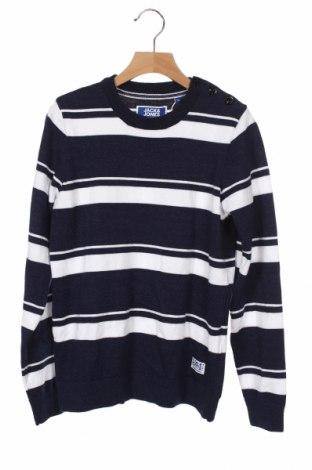 Παιδικό πουλόβερ Jack & Jones, Μέγεθος 10-11y/ 146-152 εκ., Χρώμα Μπλέ, 50% βαμβάκι, 50% πολυεστέρας, Τιμή 30,41€
