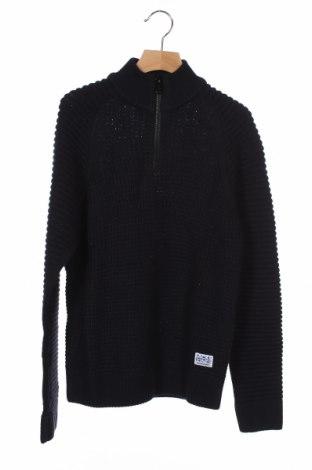 Παιδικό πουλόβερ Jack & Jones, Μέγεθος 10-11y/ 146-152 εκ., Χρώμα Μπλέ, 54% βαμβάκι, 46%ακρυλικό, Τιμή 30,41€