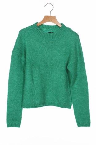 Детски пуловер LMTD, Размер 8-9y/ 134-140 см, Цвят Зелен, 66% акрил, 27% полиамид, 7% еластан, Цена 20,80лв.