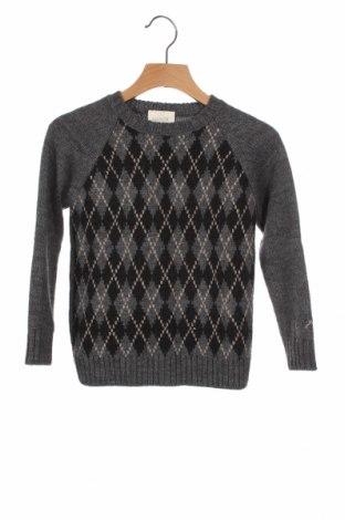 Детски пуловер Nanos, Размер 5-6y/ 116-122 см, Цвят Сив, 35% вълна, 35% акрил, 30% вълна от алпака, Цена 33,82лв.
