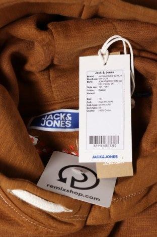 Детски суичър Jack & Jones, Размер 10-11y/ 146-152 см, Цвят Кафяв, 100% памук, Цена 34,30лв.