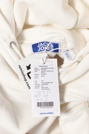 Детски суичър Jack & Jones, Размер 10-11y/ 146-152 см, Цвят Бял, 50% памук, 50% полиестер, Цена 36,75лв.