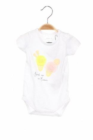 Детско боди Name It, Размер 3-6m/ 62-68 см, Цвят Бял, 95% памук, 5% еластан, Цена 21,42лв.