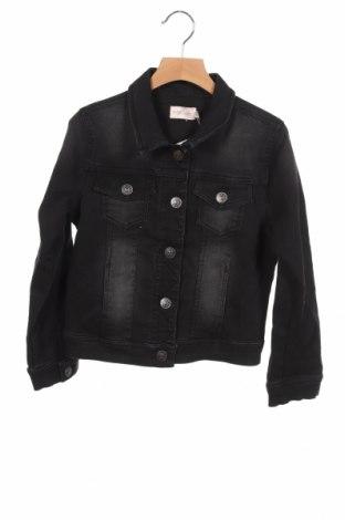 Детско дънково яке Only, Размер 7-8y/ 128-134 см, Цвят Черен, 65% памук, 33% полиестер, 2% еластан, Цена 29,00лв.
