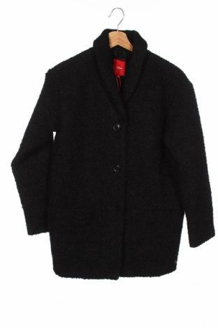 Детско палто S.Oliver, Размер 11-12y/ 152-158 см, Цвят Черен, Полиестер, Цена 44,50лв.