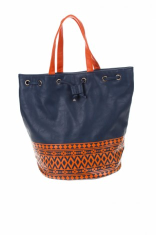 Δερμάτινη τσάντα Miss Shop, Χρώμα Μπλέ, Δερματίνη, Τιμή 13,19€
