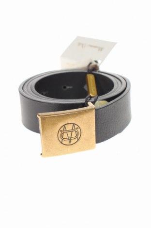 Ζώνη Massimo Dutti, Χρώμα Μαύρο, Γνήσιο δέρμα, Τιμή 34,41€