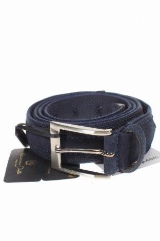 Ζώνη Massimo Dutti, Χρώμα Μπλέ, Φυσικό σουέτ, κλωστοϋφαντουργικά προϊόντα, Τιμή 26,68€