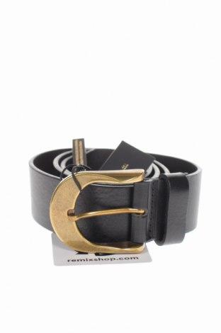 Ζώνη Massimo Dutti, Χρώμα Μαύρο, Γνήσιο δέρμα, Τιμή 30,54€