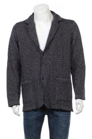 Ανδρική ζακέτα Massimo Dutti, Μέγεθος XL, Χρώμα Μπλέ, 33% μαλλί, 33% βαμβάκι, 18% λινό, 16% πολυαμίδη, Τιμή 50,52€